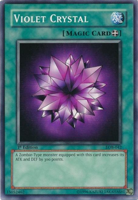 YuGiOh Legend of Blue Eyes White Dragon Common Violet Crystal LOB-042