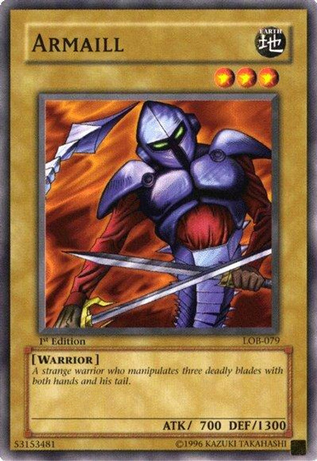 YuGiOh Legend of Blue Eyes White Dragon Common Armaill LOB-079