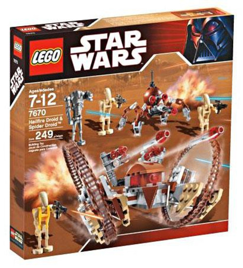 LEGO Star Wars The Clone Wars Hailfire Droid & Spider Droid Set #7670