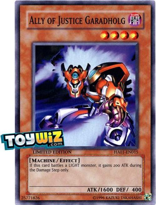 YuGiOh Hidden Arsenal 1 Super Rare Ally of Justice Garadholg HA01-EN015