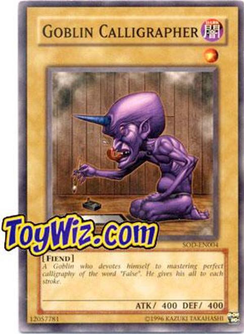 YuGiOh Soul of the Duelist Common Goblin Calligrapher SOD-EN004