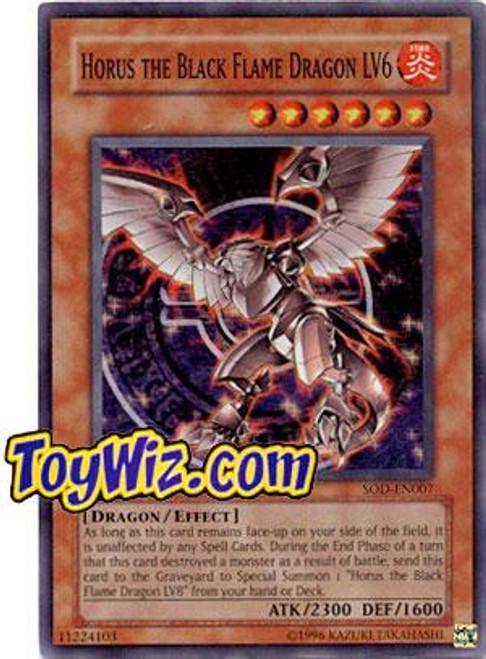YuGiOh Soul of the Duelist Super Rare Horus the Black Flame Dragon LV6 SOD-EN007