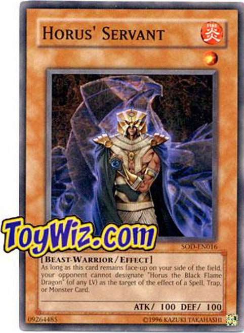 YuGiOh Soul of the Duelist Common Horus Servant SOD-EN016