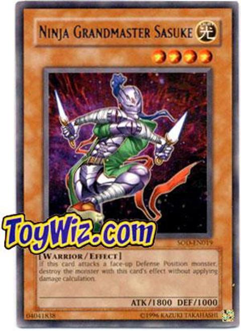 YuGiOh Soul of the Duelist Rare Ninja Grandmaster Sasuke SOD-EN019