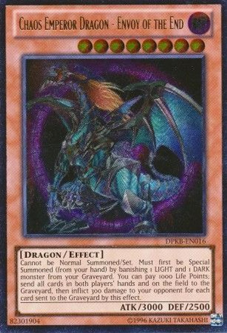 YuGiOh Duelist Pack Kaiba Ultimate Rare Chaos Emperor Dragon - Envoy of the End DPKB-EN016