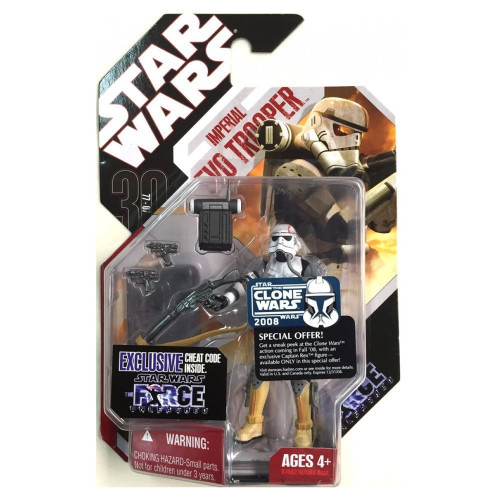 Star Wars Force Unleashed 30th Anniversary 2008 Wave 2 Imperial EVO Trooper Action Figure #9 [Force Unleashed]