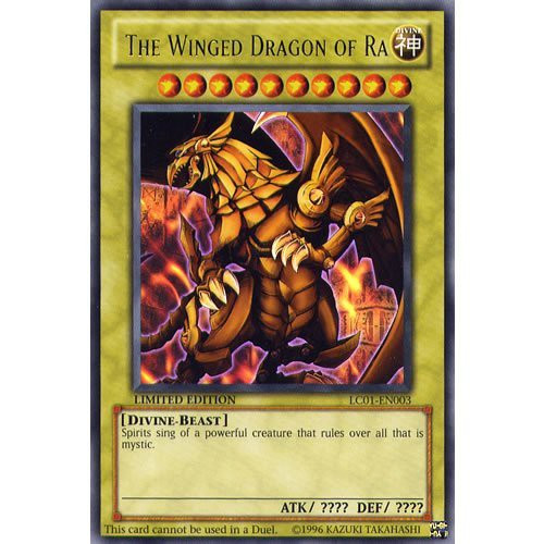 YuGiOh Legendary Collection 1 Ultra Rare Winged Dragon of Ra LC01-EN003