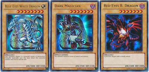 YuGiOh Set of all 3 Legendary Collection 1 Ultra Rare Icon Ultra Rare Single Cards LC01-EN004, EN005 & EN006