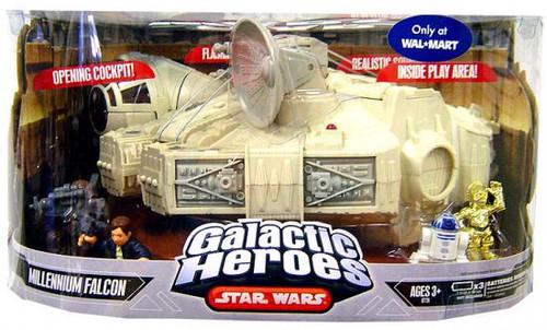 Star Wars A New Hope Galactic Heroes Cinema Scenes Millennium Falcon Exclusive Mini Figure Set [Episode IV]