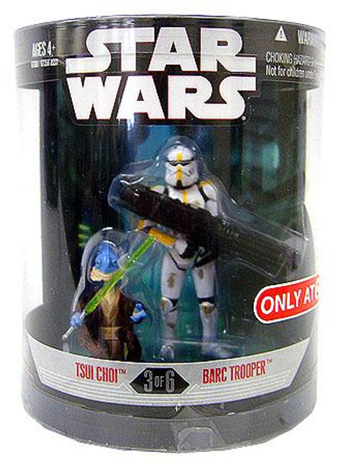 Star Wars Revenge of the Sith Order 66 2008 Tsui Choi & Barc Trooper Exclusive Action Figure 2-Pack #3 of 6