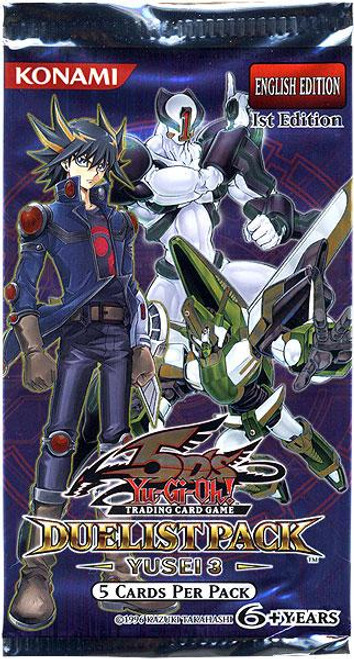 YuGiOh Duelist Pack Yusei 3 Booster Pack [Sealed]