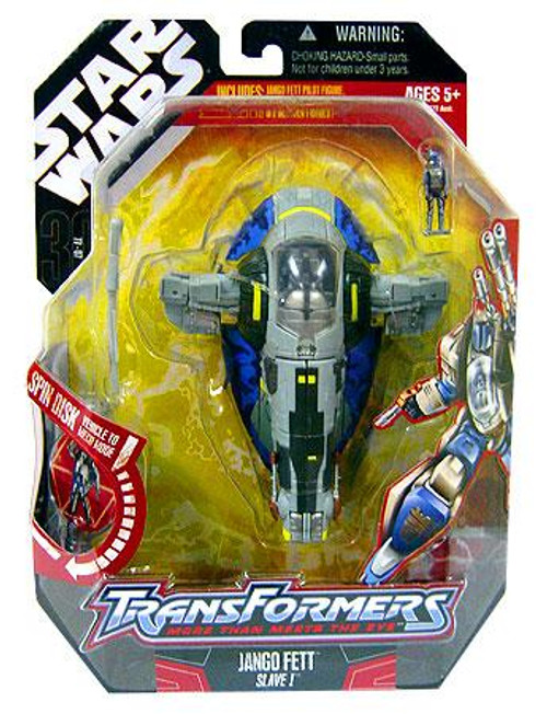 Star Wars Attack of the Clones Transformers 2007 Jango Fett to Slave 1 Action Figure