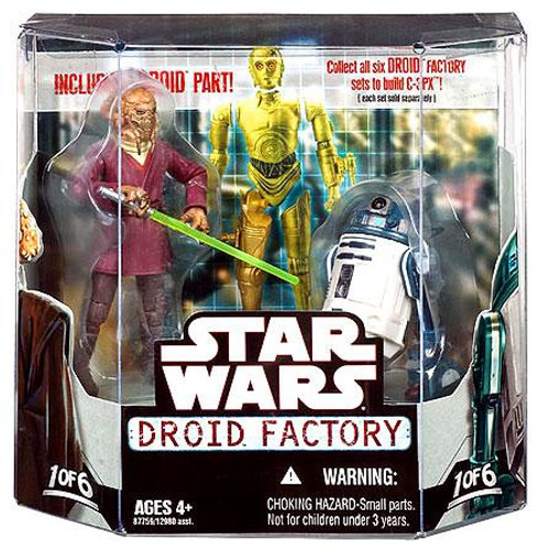 Star Wars The Clone Wars Droid Factory 2008 Plo Kloon & R4-F5 Exclusive Action Figure 2-Pack