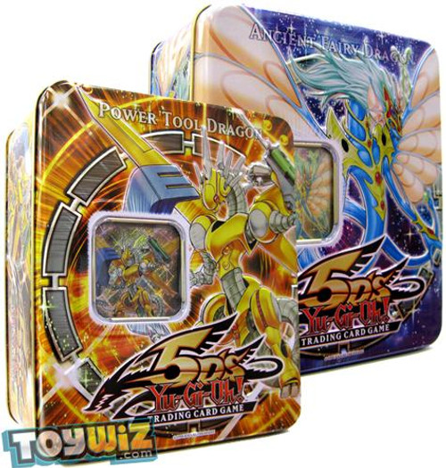 YuGiOh 5D's 2009 Collector Tins Series 1 Power Tool Dragon & Ancient Fairy Dragon Collector Tins [Sealed]