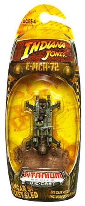Indiana Jones Kingdom of the Crystal Skull Titanium Series Rocket Sled Diecast Vehicle