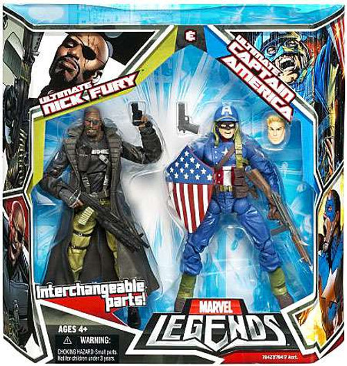 Marvel Legends Ultimates Captain America & Nick Fury Action Figure 2-Pack