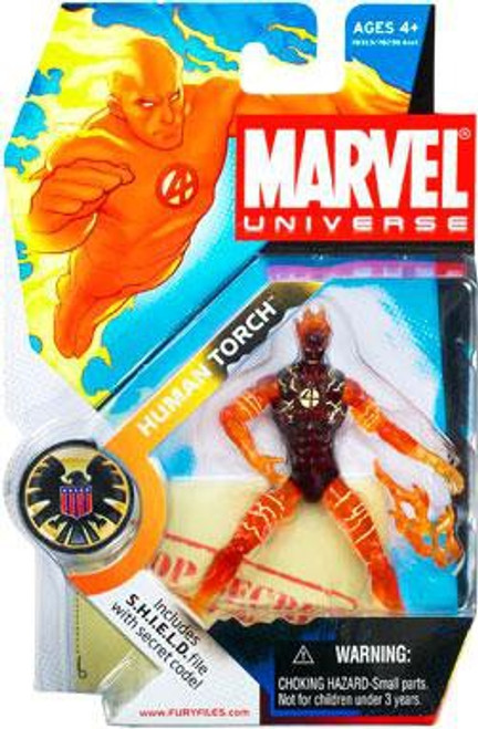 Marvel Universe Series 1 Human Torch Action Figure #7 [In Flames]