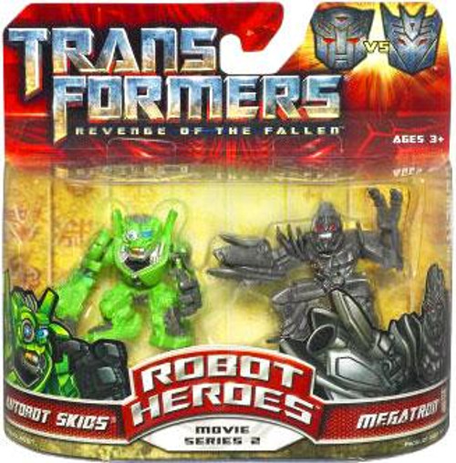 Transformers Revenge of the Fallen Robot Heroes Movie Series 2 Megatron vs. Autobot Skids Figure 2-Pack