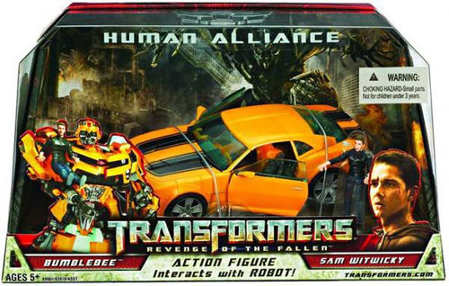 Transformers Revenge of the Fallen Human Alliance Bumblebee with Sam Witwicky Action Figure Set