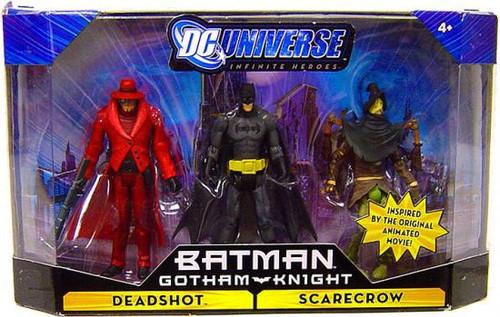 DC Universe Batman Gotham Knight Infinite Heroes Batman, Deadshot & Scarecrow Action Figures