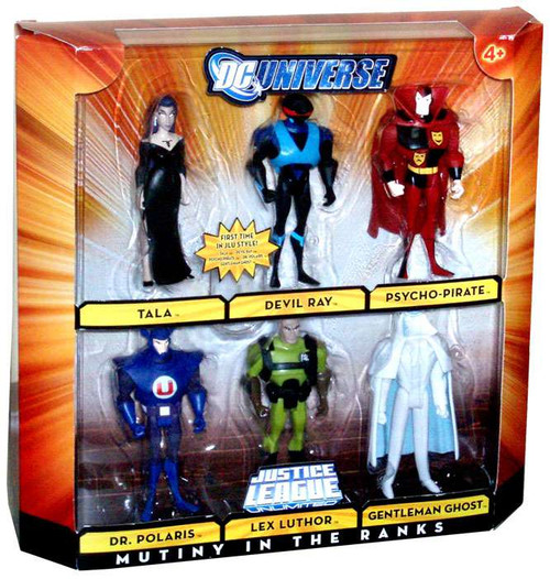 DC Universe Justice League Unlimited Mutiny in the Ranks Exclusive Action Figure Set