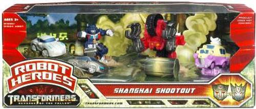 Transformers Revenge of the Fallen Robot Heroes Shanghai Shootout Figure Set