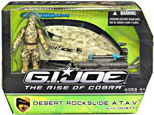 GI Joe The Rise of Cobra Desert Rockslide A.T.A.V. Action Figure Vehicle