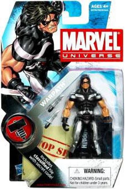 Marvel Universe Series 6 Warpath Action Figure #3 [Black & Silver]