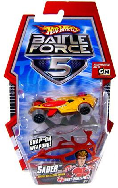 Hot Wheels Battle Force 5 Saber 1/6 Diecast Vehicle [With Armor, Special Battlezone Edition]