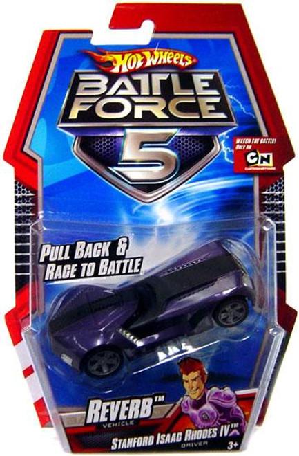 Hot Wheels Battle Force 5 Pull Back Reverb 1/6 Diecast Vehicle