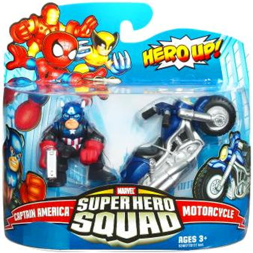 Marvel Super Hero Squad Series 17 Captain America & Motorcycle Action Figure 2-Pack
