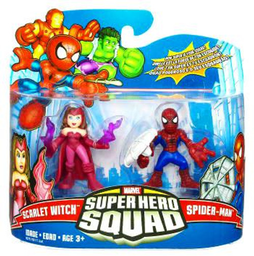 Marvel Super Hero Squad Series 17 Spider-Man & Scarlet Witch Action Figure 2-Pack