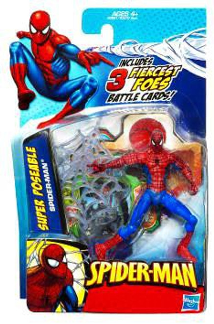 Spider-Man 2010 Super Poseable Spider-Man Action Figure [Fiercest Foes Card]