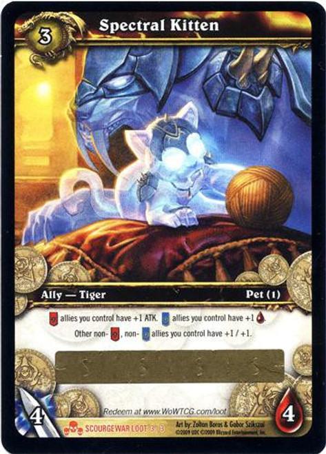 World of Warcraft Trading Card Game Scourgewar Legendary Loot Spectral Kitten #3