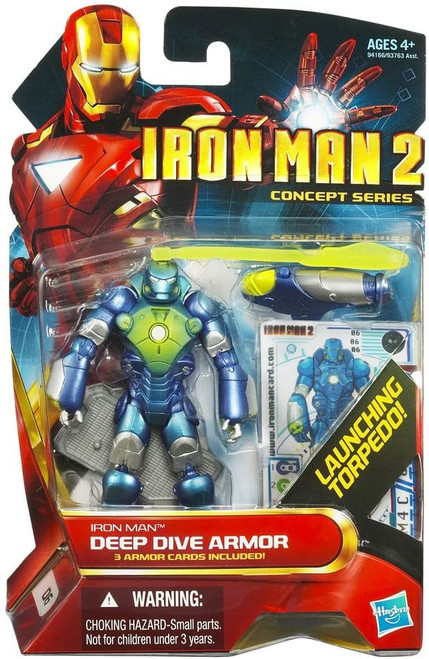 Iron Man 2 Concept Series Deep Dive Armor Iron Man Action Figure #6