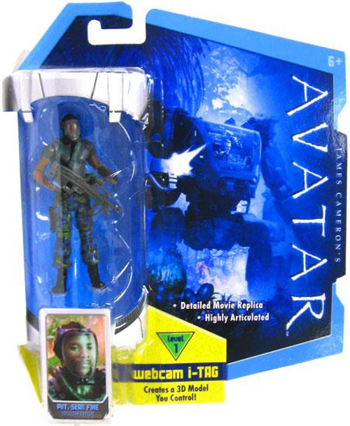 James Cameron's Avatar Private Sean Fike Action Figure [Face Mask]