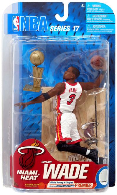McFarlane Toys NBA Miami Heat Sports Picks Series 17 Dwyane Wade Action Figure [White Jersey & Trophy]
