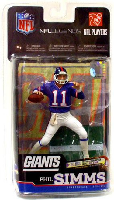 McFarlane Toys NFL New York Giants Sports Picks Legends Series 6 Phil Simms Action Figure
