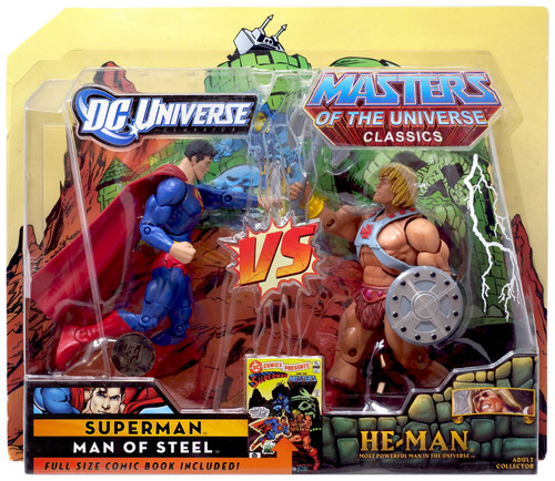 DC / Masters of the Universe Classics Club Eternia Superman Vs. He-Man Exclusive Action Figures
