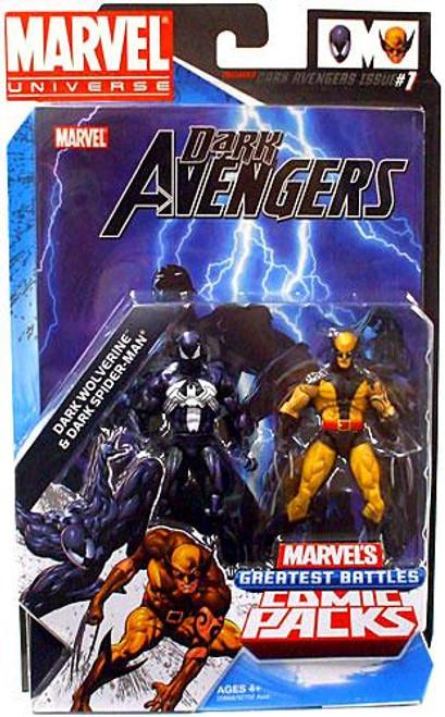 Marvel Universe Marvel's Greatest Battles Comic Packs Dark Wolverine & Dark Spider-Man Action Figure 2-Pack [Daken & Venom]