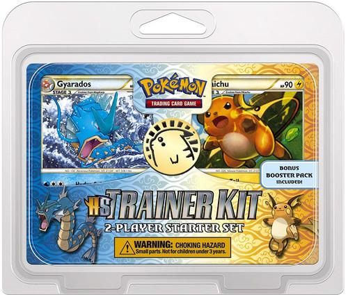 Pokemon HeartGold & Soulsilver Raichu & Gyarados Trainer Kit 12-Inch Starter Set