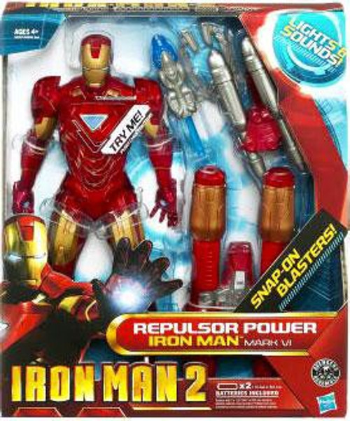 Iron Man 2 8 Inch Lights & Sounds Repulsor Power Iron Man Mark VI Action Figure