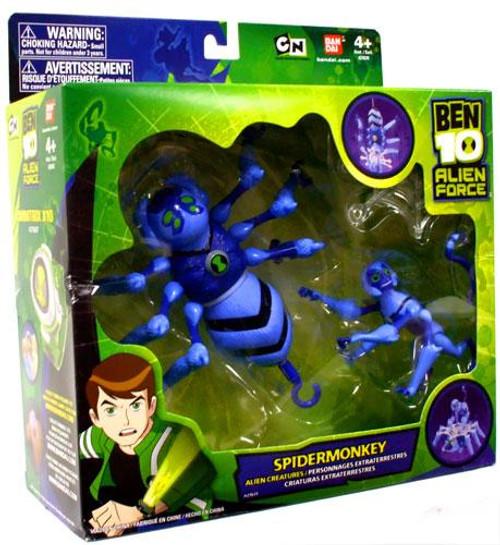 Ben 10 Alien Creatures Spidermonkey Vehicle Action Figure Set