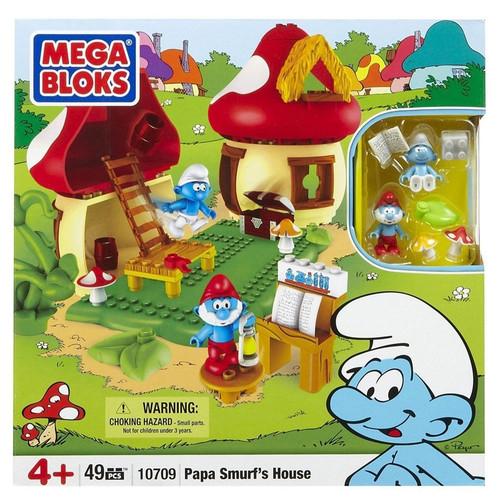 Mega Bloks The Smurfs Papa Smurf's House Set #10709