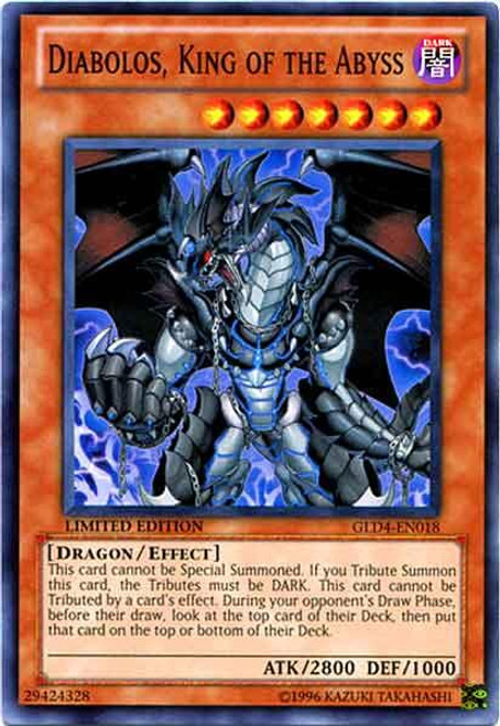 YuGiOh Gold Series 4 2011 Common Diabolos, King of the Abyss GLD4-EN018