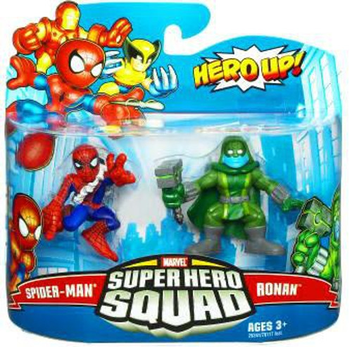 Marvel Super Hero Squad Series 19 Spider-Man & Ronan Action Figure 2-Pack