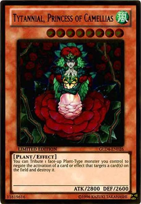 YuGiOh Gold Series 4 2011 Gold Rare Tytannial, Princess of Camellias GLD4-EN026