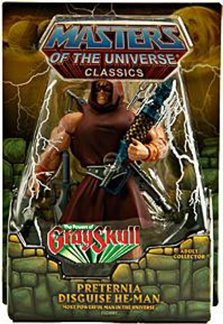 Masters of the Universe Classics Club Eternia Preternia Disguise He-Man Exclusive Action Figure [The Power of Gray Skull]
