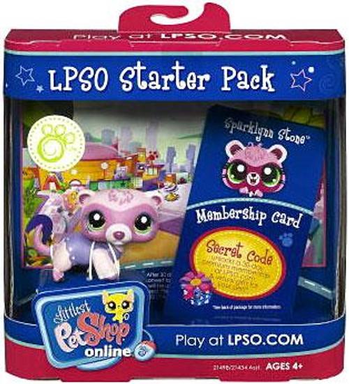 Littlest Pet Shop Online LPSO Starter Pack Sparklynn Stone Figure [Ferret]
