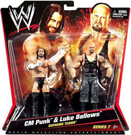 WWE Wrestling Series 7 CM Punk & Luke Gallows Action Figure 2-Pack